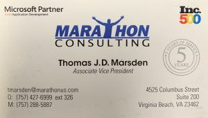 Marathon Business Card Ad